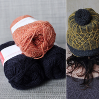 Soft-Hearted Hat Kit (Orange & Navy)