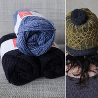 Soft-Hearted Hat Kit (Blue & Navy)