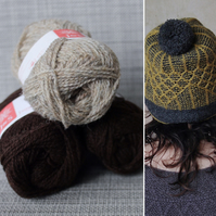 Soft-Hearted Hat Kit (Oatmeal & Brown)