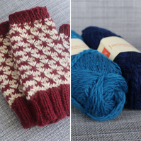 Rose Thorn Mitts (Navy & Blue)
