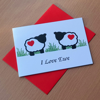 I Love Ewe Valentine's Card