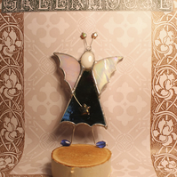 Mirror Glass Stained Glass Purple Fairy Handmade Hanging Decoration
