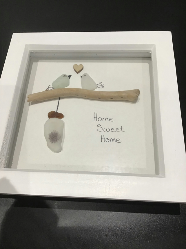 Sea glass art Home Sweet Home