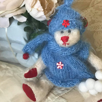 "8"" handmade one of a kind mohair bear"