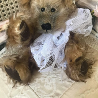 "8"" handmade one of a kind teddy bear"