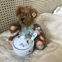 "8"" mohair hand made one of a kind teddy bear"