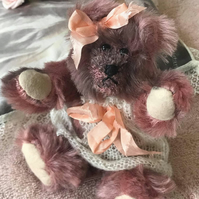 "6"" mohair one of a kind hand made teddy bear"
