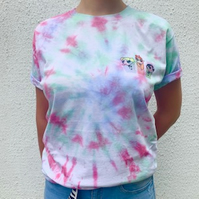 Power Puff Girls Tie Dye T Shirt