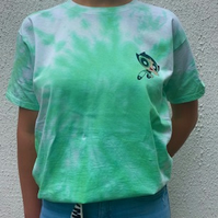 Power Puff Girls BUTTERCUP Tie Dye T Shirt