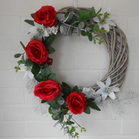 Red & silver Cristmas wreath