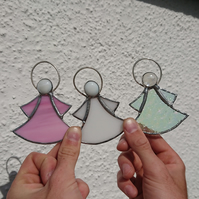 Stained glass cute angels, copperfoil suncatcher