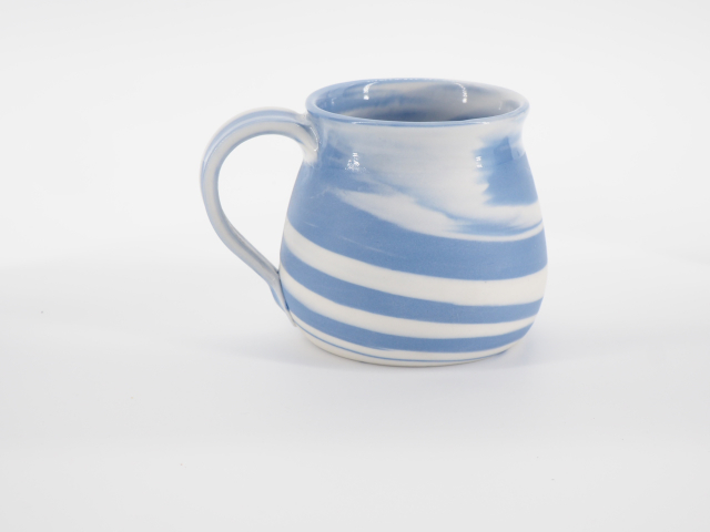 Hand thrown Porcelain Agate Cup by Rowan Fawdon ( AGC4)