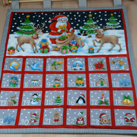 Advent Calendar Wall hanging in Grey