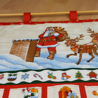Advent Calendar Wall hanging in Cream
