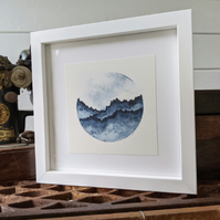 Blue Mountain Original Framed Watercolour