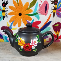 2 cup hand-painted ceramic teapot