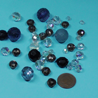 CRYSTAL,FACETED BEADS.
