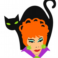Endora Bewitched statement acrylic brooch.