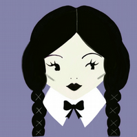 Pre-order Wednesday Addams brooch