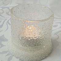 Frosty Glass Night light candle holder