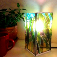 Stained Glass Leaf Lamp