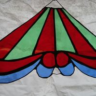 Carousel Top- red and green stripe