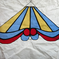 Carousel top - blue and yellow stripe