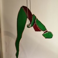 Trapeze Artist - green and red