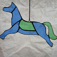 Horse - Blue and Green