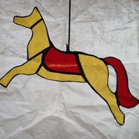 Horse - yellow and red