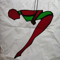 Trapeze Artist - Red and Green