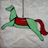Horse -green and red