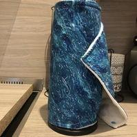 Set of Seven Unpaper Towels Blue Waves