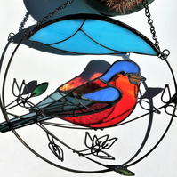 Chaffinch Stained Glass Suncatcher