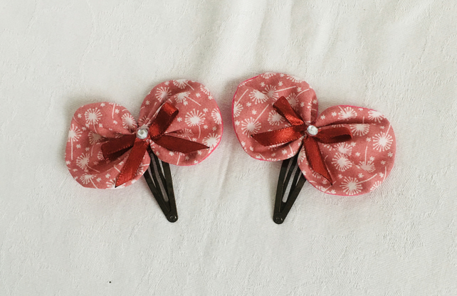 Stunning Bow Snap Hair Clips, Hair Bows, Hair Clips, Hair Accessories.