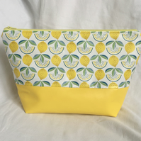 Bitter Sweet Lemon's Wash Bag, Large Toiletries Bag, Bright Coloured Wash Bag.