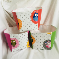 Hooting Around Box Set, Fun Set of Boxes, Bright Colour Boxes, Great Gift Ideas.
