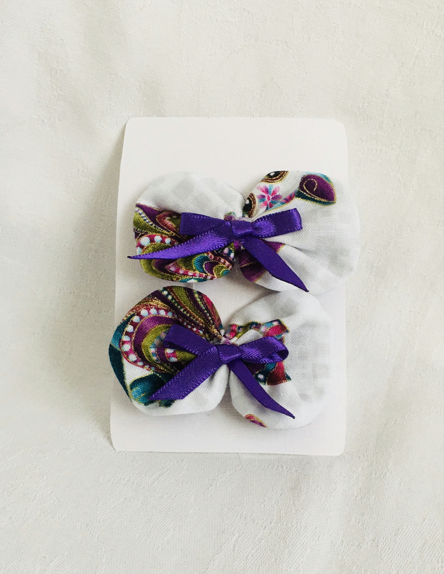 Beautiful Bow Hair Clips, Bow Clips, Hair Slides, Hair Bows, Gift Idea.
