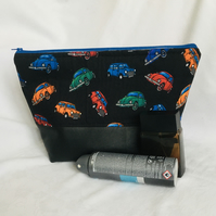 Oh What A Classic Wash Bag, Retro Toiletries Bag, Large Wash Bag, Gift Idea.