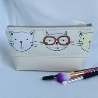 Cat-attitude Make-up Bag, Fun Cosmetic Bag, Make Up Bag, Gift Idea.