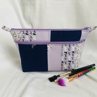Unique Double Zip Wash Bag, Make up Bag, Great Gift Idea.
