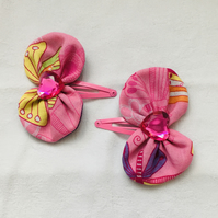 Pretty Bow Snap Hair Clips, Hair Clips, Hair Bows, Hair Accessories.