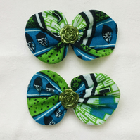 Stunning Bow Hair Clips, Tribal Bow Hair Slides, Hair Bows, Gift Ideas.