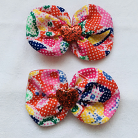 Colourful Bow Hair Clips, Hair Bow Clips, Hair Bows, Great Gift Idea.