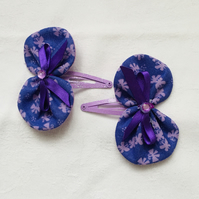 Butterfly Bow Hair Clips, Pretty Snap Hair Bow Clips, Hair Bows, Gift Ideas.
