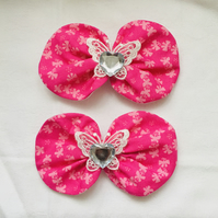 Large Hair Bow Clips, Butterfly Hair Bow Clips, Gift Ideas for Her.