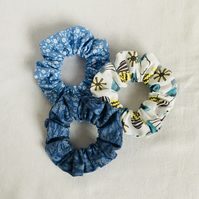 Set of Scrunchies Blue's, Scrunchies, Hair Bands, Fun Scrunchies, Gift Ideas,