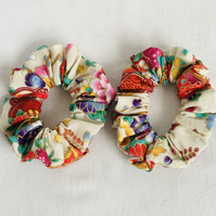 Beautiful Set of Scrunchies, Colourful Scrunchies, Gift Ideas for Her.