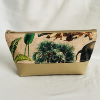 Safari Make Up Bag, Animals Cosmetic Bag, Unique Make Up Bag, Gift Ideas.