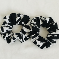 Monochrome Scrunchies, Set of Scrunchies, Hair Bands, Gift Ideas.